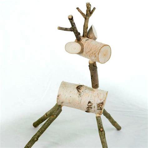 white wooden reindeer reindeer wood deer white birch decoration