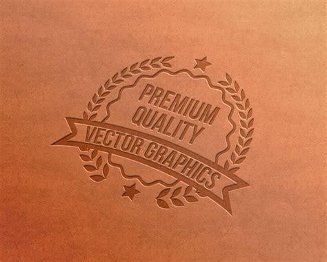 letterpress logo mockup psd graphicsfuel