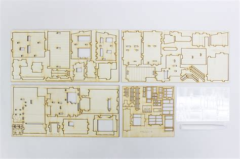 modern style house wooden model kit ho 3d wood miniature modern style house wooden model kit ho 3d wood miniature