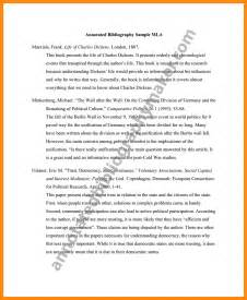 Annotated Bibliography Template Mla by 6 Mla Annotated Bibliography Sle Resumed