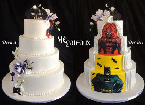 Hochzeitstorte Batman by Two Sides Wedding Cake Cake By M 233 G 226 Teaux Cakesdecor