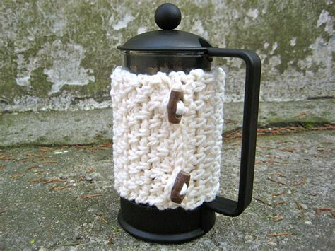 pattern for french press cozy one skein crochet gifts for men