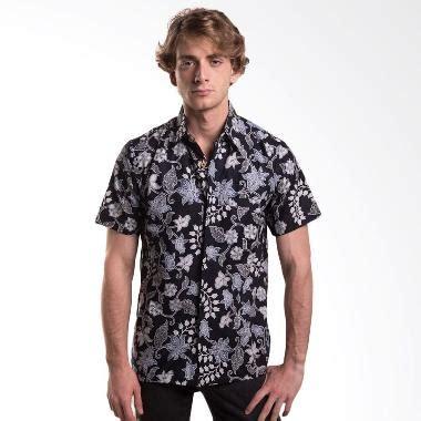 desain baju batik cirebon jual batik trusmi hem katun motif bunga kapas hitam baju