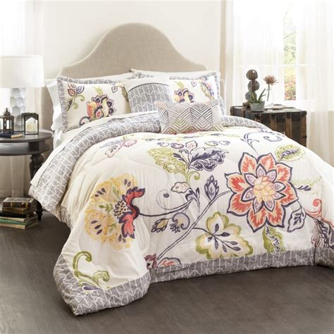 Quilted Comforter by Lush Decor Aster Quilted 5 Comforter Set Free