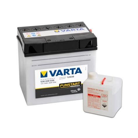 Varta Motorradbatterie 53030 by Varta Motorradbatterie Funstart Fresh Pack 2in1 53030 12v