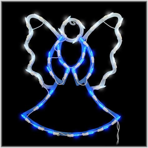 lighted angel outdoor christmas decorations led praying angel lighted window ornamental small