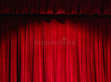 tenda rossa tenda rossa teatro illustrazione di stock