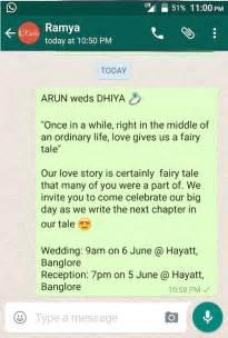 marriage invitation wordings invite friends through sms creative ideas for whatsapp wedding invitation