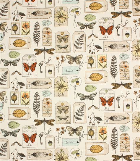 Wildlife Upholstery Fabric by Wildlife Fabric Multi Just Fabrics