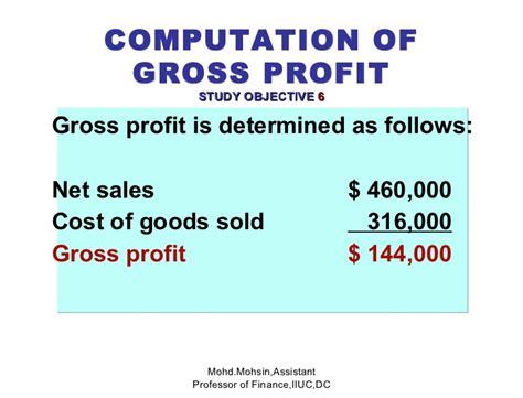 Gross Profit Mba by Acc4201 5