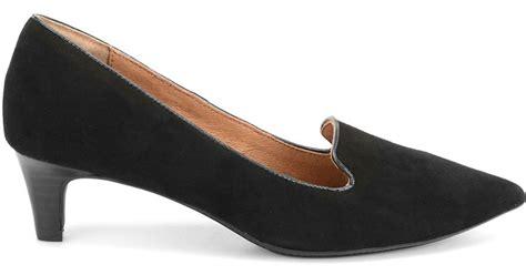 s 246 fft vesper suede kitten heel loafers in black black
