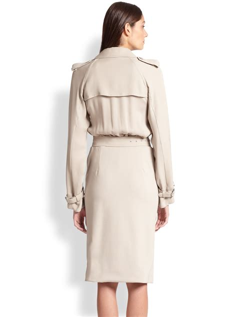 Trench Coat Dress Black Beige 19063 max mara afosi silk trench dress in lyst