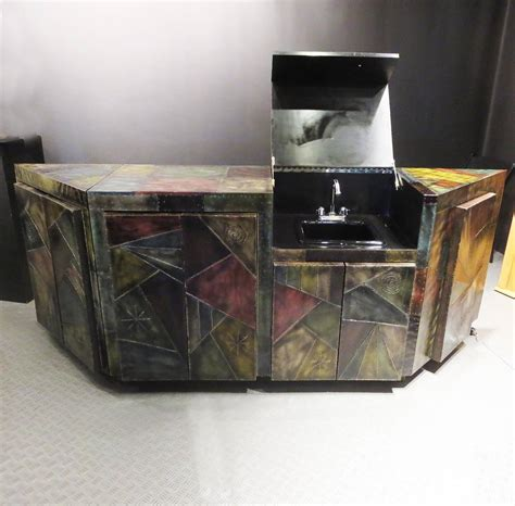 paul custom cabinet with built in bar sink for sale