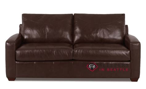 leather full sleeper sofa quick ship boulder full leather sofa by savvy fast