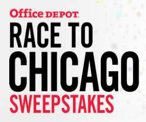 Office Depot Sweepstakes - office depot race to chicago sweepstakes life with kathy