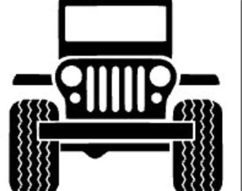 jeep front silhouette jeep wrangler etsy