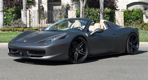 Matte Grey Ferrari 458 Spider Is All Kinds Of Nah