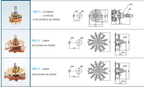 4 position fan switch 8 position rotary switch 2 pole 4