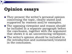 Writing Opinion Essays by The Opinion Essay