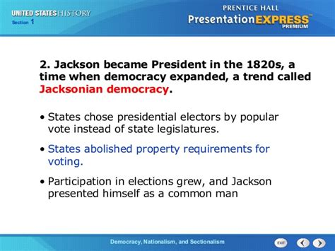 chapter 13 section 5 the election us history ch 2 section 1 notes