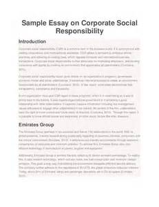 Responsibility Essay by Sle Essay On Corporate Social Responsibility