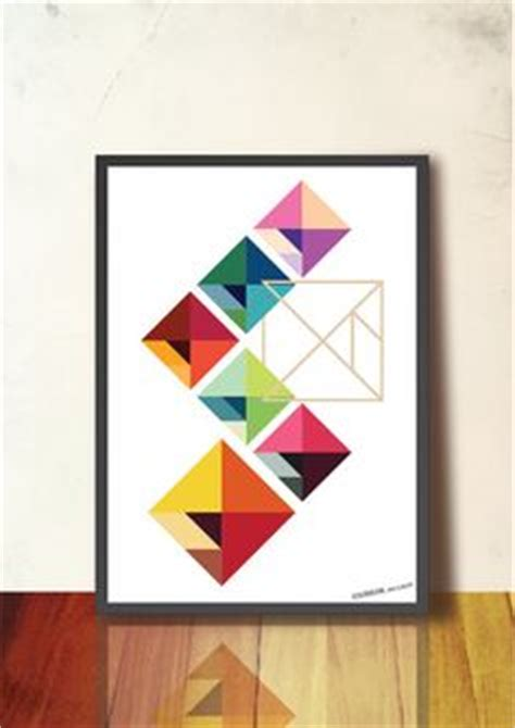 abstract poster scandinavian print mid abstract wall poster print tangram geometric
