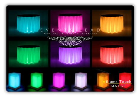 led table lights for weddings 1000 images about lights the table on