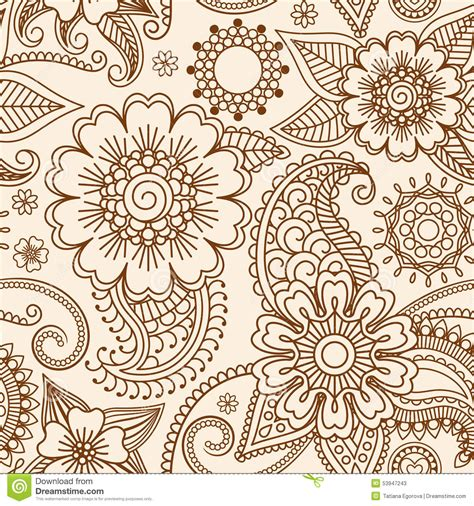 henna tattoo background henna mehndi seamless pattern stock vector image 53947243
