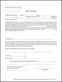 download colorado quitclaim deed form for free formtemplate