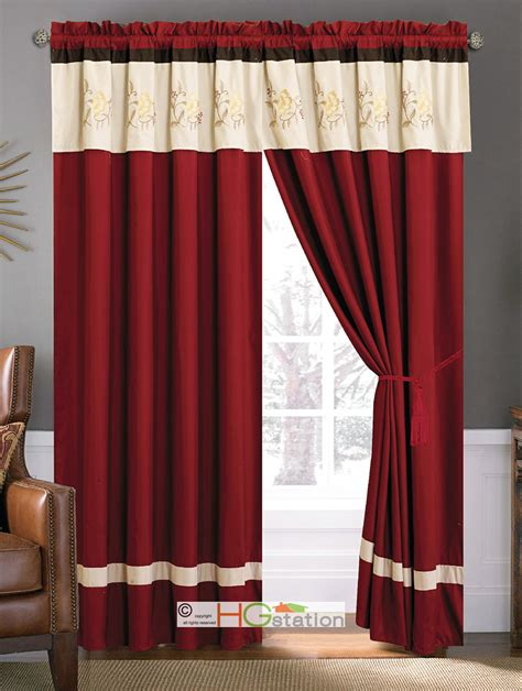 red tier curtains country living red ticking stripe tier curtains