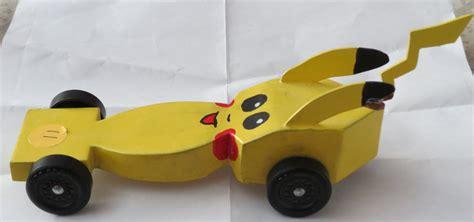 pikachu pinewood derby car by rufus tgap on deviantart
