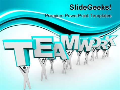 Teamwork Business Powerpoint Background And Template 1210 Teamwork Powerpoint Template
