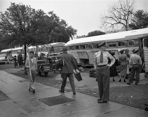 boarding tallahassee florida memory union painter at left picketing by passengers boarding greyhound