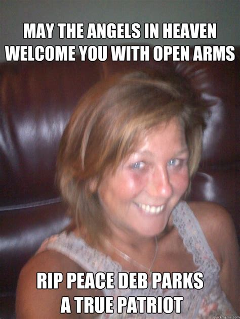 In The Arms Of An Angel Meme - may the angels in heaven welcome you with open arms rip