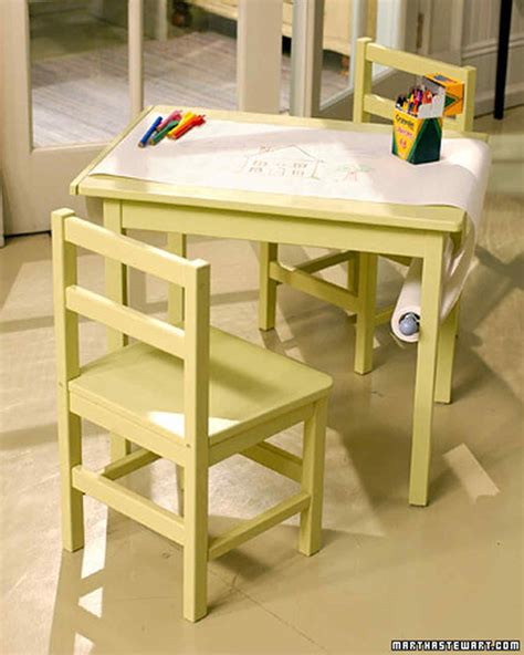 kid craft tables paper scroll martha stewart