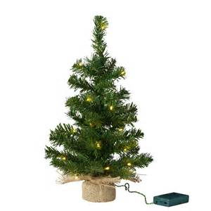 pre lit mini christmas tree with jute bag lights4fun co uk