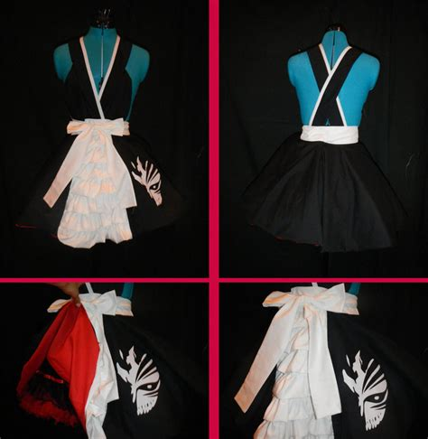 pattern bankai bleach ichigo kurosaki bankai cosplay pinafore by