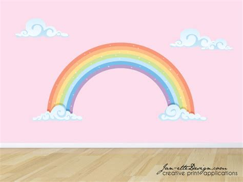 rainbow wall stickers rainbow wall decal pastel rainbow fabric wall sticker