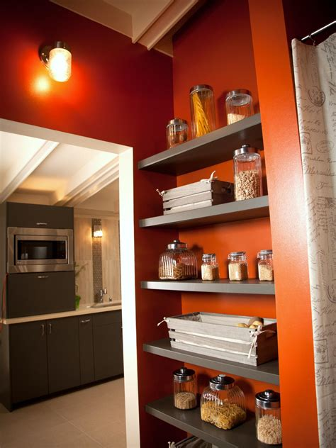 wood shelves  laundry room  pantry  storage hgtv
