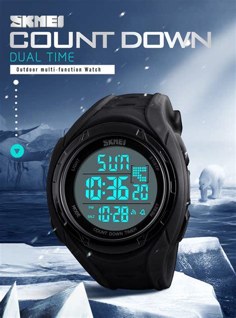 Jam Tangan Digital Skmei Dg1243 skmei jam tangan digital pria 1313 black