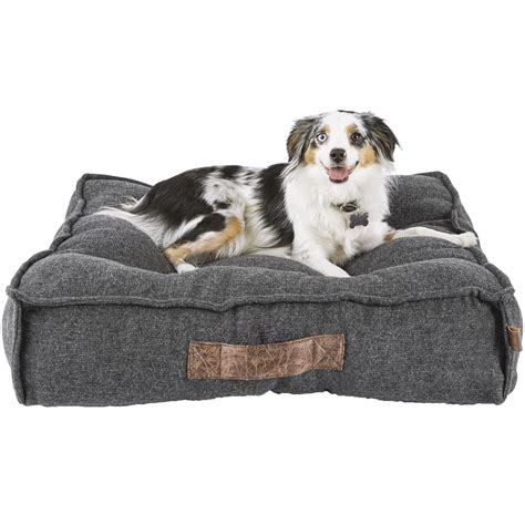 dog mattress bed harmony grey lounger memory foam dog bed petco