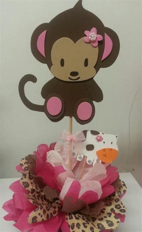 monkey baby shower table decor photograph monkey baby show
