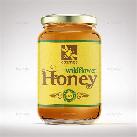 Honey Jar Label Template By Designer0007 Graphicriver Honey Bottle Labels Template