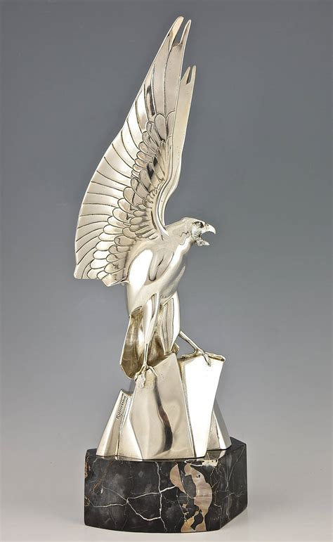 kronleuchter deco deco artist henri deco silvered bronze eagle