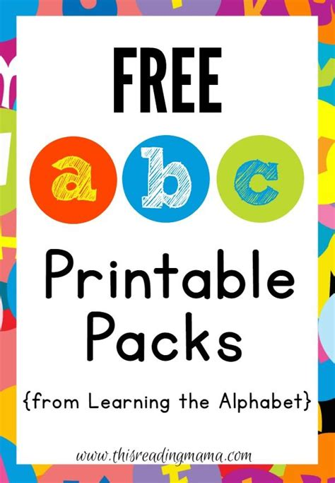 free printable lettering free abc printable packs learning the alphabet abc