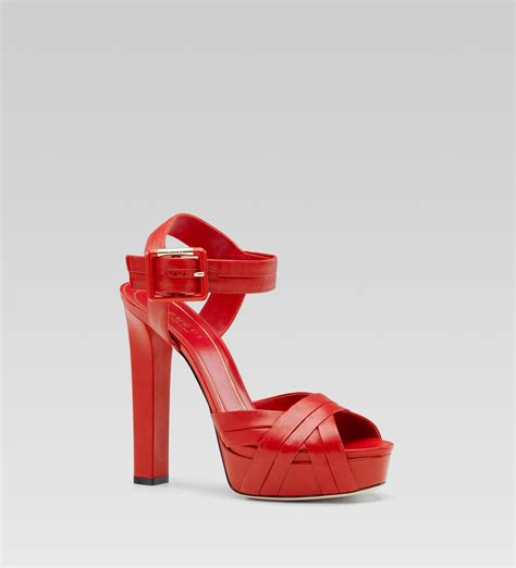 gucci high heel gucci high heel platform sandal with ankle in
