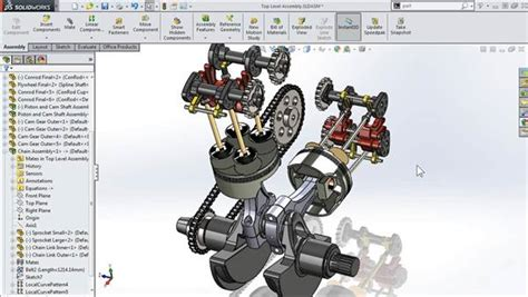 tutorial solidworks motor modeling a motorcycle engine with solidworks
