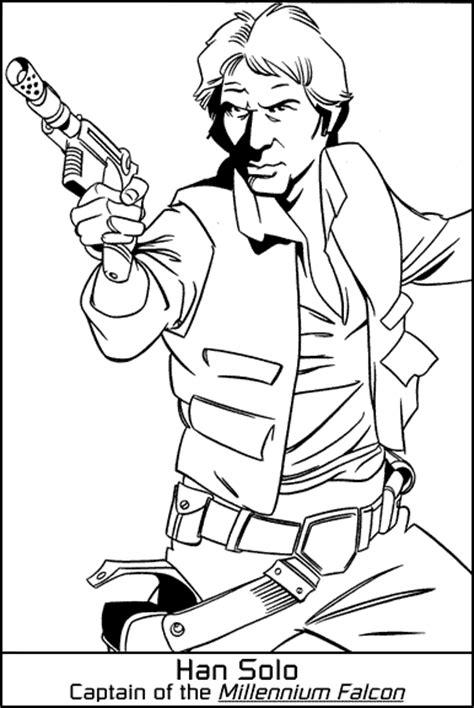 han solo coloring page coloring pages pinterest