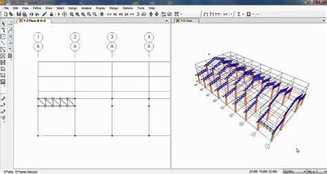 sap tutorial csi sap2000 design of steel truss factory structure 01 02
