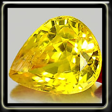 Yellow Saphire Heated Only sapphires 0 50ct yellow sapphire vs1 songea fancy classic pear gem heated only